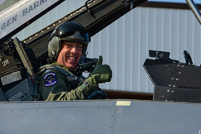 CAP South Carolina Wing legislative commander flies with 169th FW
