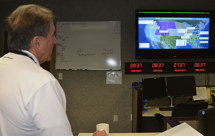 AFNORTH deploys EPLOs ahead of Hurricane Florence